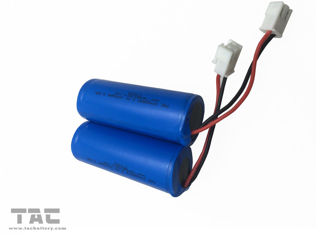 Power Tool 3Ah 3.2V LiFePO4 Battery IFR26650 3000mAh 9.6Wh PCM With Wires