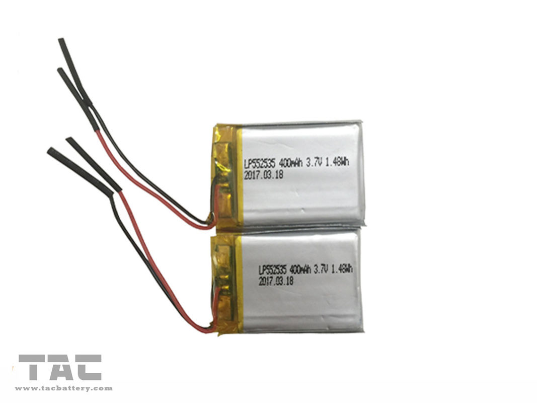 GSP552535 Rechargeable Li Polymer Battery LP552535 3.7V 400mAh For IoT