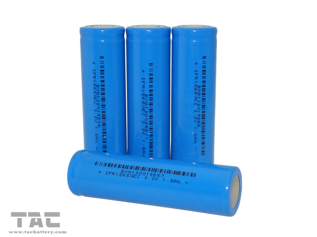 Lithium Iron Phosphate Battery IFR18650 3.2V LiFePO4  1400mAh For Flashlight