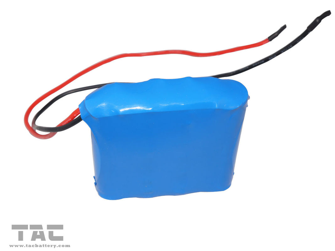 Blue PVC 12V LiFePO4 Battery Pack LFR18650 1500MAH  For Solar Lantern