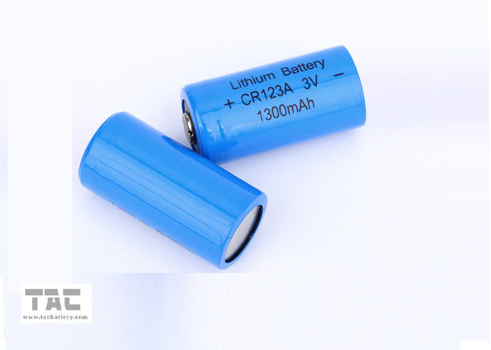 High energy density 3.0V CR123A 1300mAh Li/MnO2 Primary Lithium Battery / Li-Mn Battery