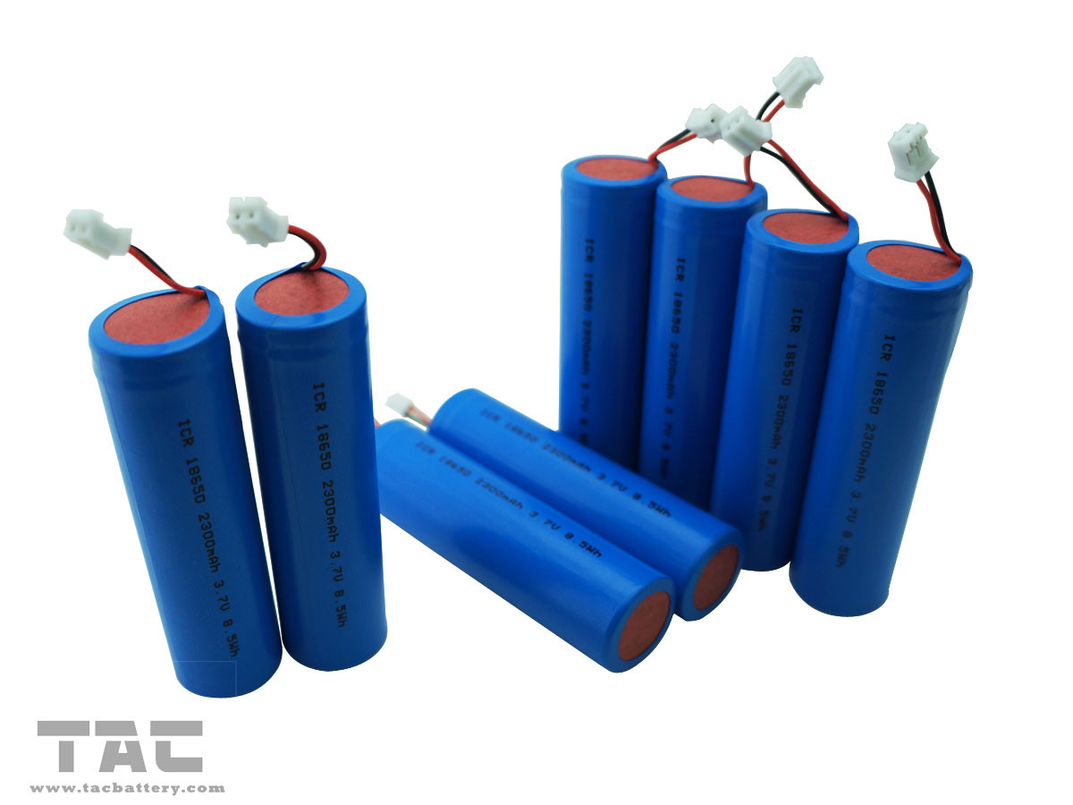 3.7V ICR18650  2300mAh Lithium Ion Cylindrical Battery With BMS For Sound Equipment
